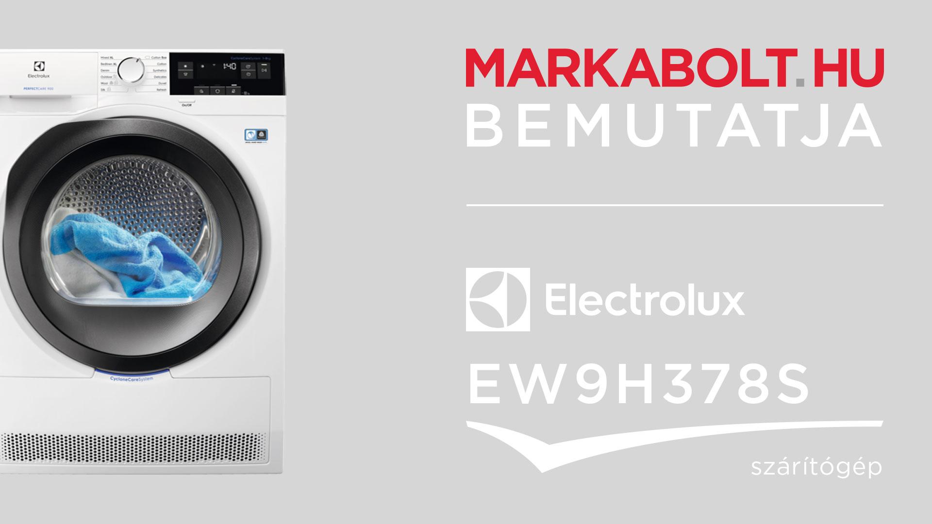 Electrolux EW9H378S hőszivattyús szárítógép